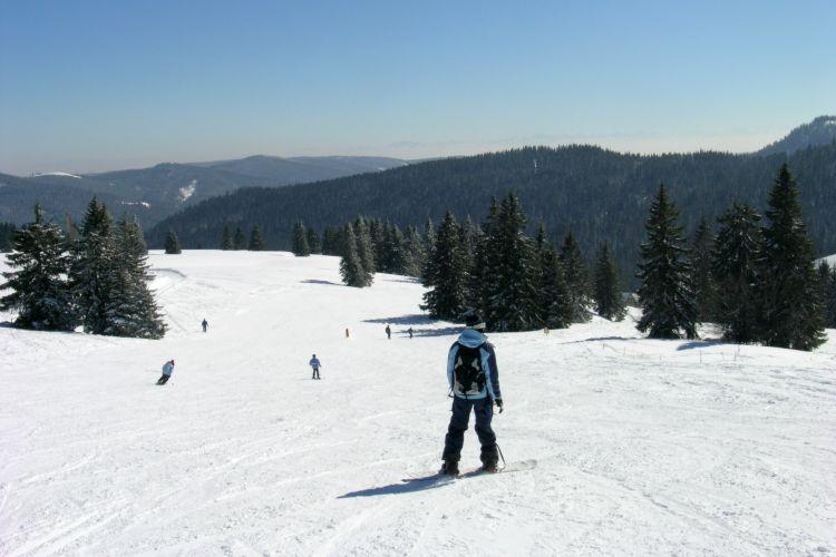 Ski Fahren Schwarzwald